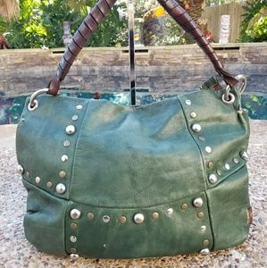 💲Sold💲Green Leather Handbag